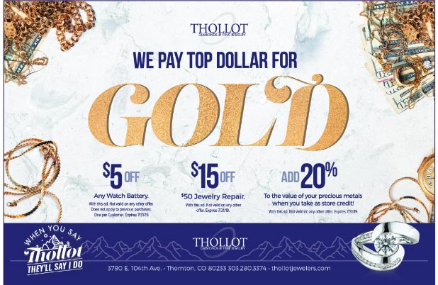 Thollot Diamonds & Fine Jewelry To Pay Top Dollar For Your Gold In